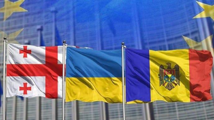 توقيع إعلان باتومي بشأن الإنضمام الى الاتحاد الأوروبي بين أوكرانيا ومولدوفا وجورجيا