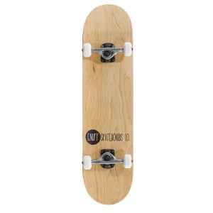 Enuff Logo Stain Complete Skateboard - Natural/Raw