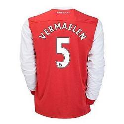 2010-11 Arsenal Nike Long Sleeve Home Shirt (Vermaelen 5)