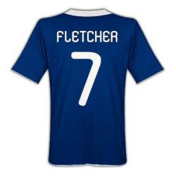 2010-11 Scotland Home Shirt (Fletcher 7)