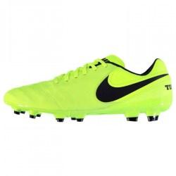 Nike Tiempo Genio FG Mens Football Boots (Volt-Black)