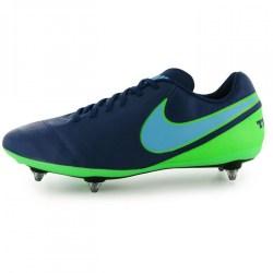 Nike Tiempo Genio SG Mens Football Boots (Blue-Green)