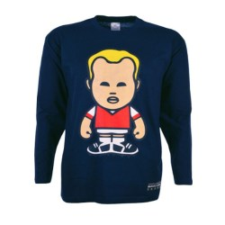Bergkamp Retro Long Sleeve T-Shirt (Navy)