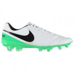Nike Tiempo Legacy FG Mens Football Boots (White-Green)