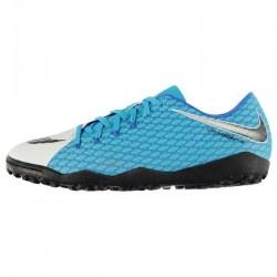 Nike Hypervenom III 3 Phelon Mens Astro Turf Trainers (White-Blue)