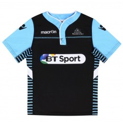 2016-2017 Glasgow Warriors Rugby Warm Up Jersey (Black) - Kids