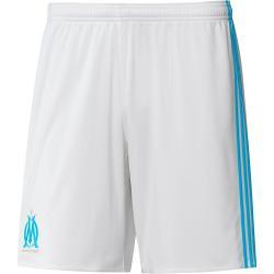 2017-2018 Olympique Marseille Adidas Home Shorts (White) - Kids