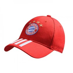 2017-2018 Bayern Munich Adidas 3S Cap (Red)