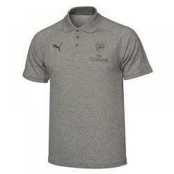 2017-2018 Arsenal Puma Casual Performance Polo Shirt (Grey) - Kids