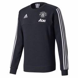 2017-2018 Man Utd Adidas Training Sweat Top (Night Grey)