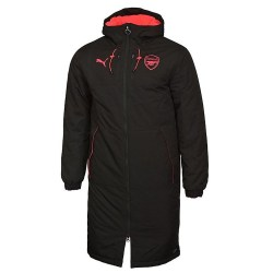 2017-2018 Arsenal Puma Long Bench Jacket (Black)