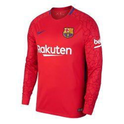 2017-2018 Barcelona Away Nike Goalkeeper Shirt (Red)