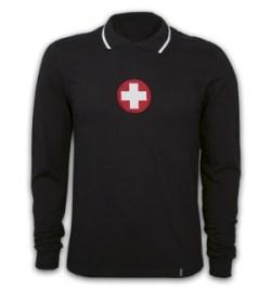 Switzerland Goalie 1970's Long Sleeve Retro Shirt 100% cotton
