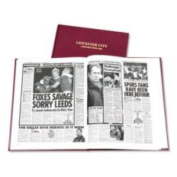 Leicester City Newspaper Book