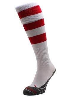 Original Hooped Match Sock - White/Red