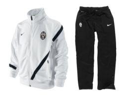 2011-12 Juventus Nike Sideline Tracksuit (White) - Kids