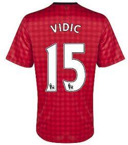 2012-13 Man Utd Nike Home Shirt (Vidic 15) - Kids