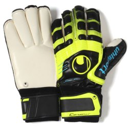 Cerberus Supersoft Supportframe Rollfinger Goalkeeper Gloves Black/Yellow