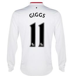 2012-13 Man Utd Long Sleeve Away Shirt (Giggs 11) - Kids