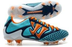 Skreamer S Combat Firm Ground Kids Football Boots Blue Radiance/Orange
