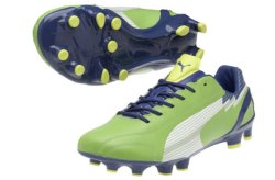 Evospeed 1 K FG Football Boots Jasmine Green/Monaco Blue/Fluo Yellow