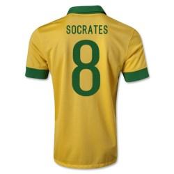 2013-14 Brazil Home Shirt (Socrates 8) - Kids