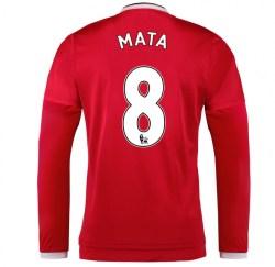 2015-2016 Man Utd Long Sleeve Home Shirt (Mata 8) - Kids