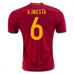 2016-2017 Spain Home Shirt (A.Iniesta 6) - Kids