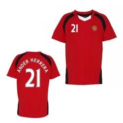 Official Man United Training T-Shirt (Red) (Ander Herrera 21)