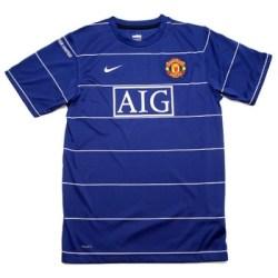 08-09 Man Utd Pre-Match Training Top (blue)