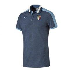 2017-2018 Italy Azzurri Polo Shirt (Peacot)