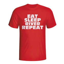 Eat Sleep River Plate Repeat T-shirt (red)