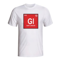 Gary Lineker England Periodic Table T-shirt (white)