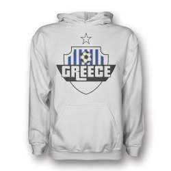 Greece Country Logo Hoody (white)