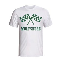 Vfl Wolfsburg Waving Flags T-shirt (white)
