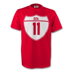 Mesut Ozil Arsenal Crest Tee (red) - Kids