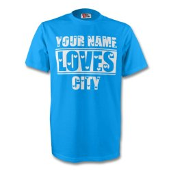 Your Name Loves City T-shirt (sky)