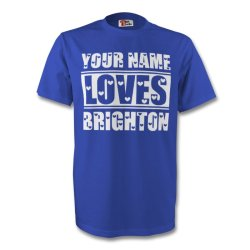 Your Name Loves Brighton T-shirt (blue)