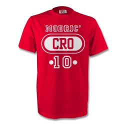 Luka Modric Croatia Cro T-shirt (red)