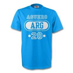 Sergio Aguero Argentina Arg T-shirt (sky Blue)