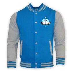 Napoli College Baseball Jacket (sky Blue) - Kids