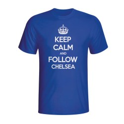 Keep Calm And Follow Chelsea T-shirt (blue)