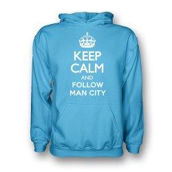 Keep Calm And Follow Man City Hoody (sky Blue)