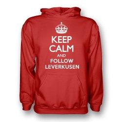 Keep Calm And Follow Bayer Leverkusen Hoody (red) - Kids