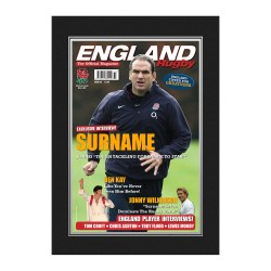 Personalised England Rugby Magazine Cover