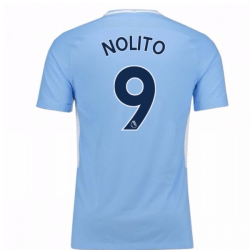 2017-18 Man City Home Shirt (Nolito 9)