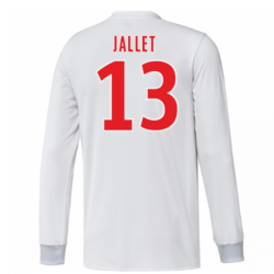 2017-18 Olympique Lyon Adidas Long Sleeve Home Shirt (Jallet 13)