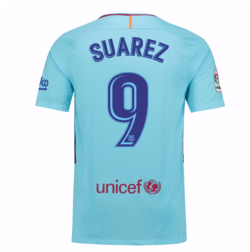2017-2018 Barcelona Away Shirt (Suarez 9) - Kids