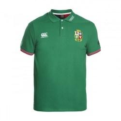 2016-2017 British Irish Lions Rugby Vapodri Cotton Polo Shirt (Green)