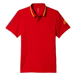 2016-2017 Spain Adidas Anthem Polo Shirt (Red)